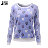 Free Shipping New 2015 Women Cute Print Hoodies Spring Autumn Long Sleeve Casual Sweatshirts Moleton Feminine