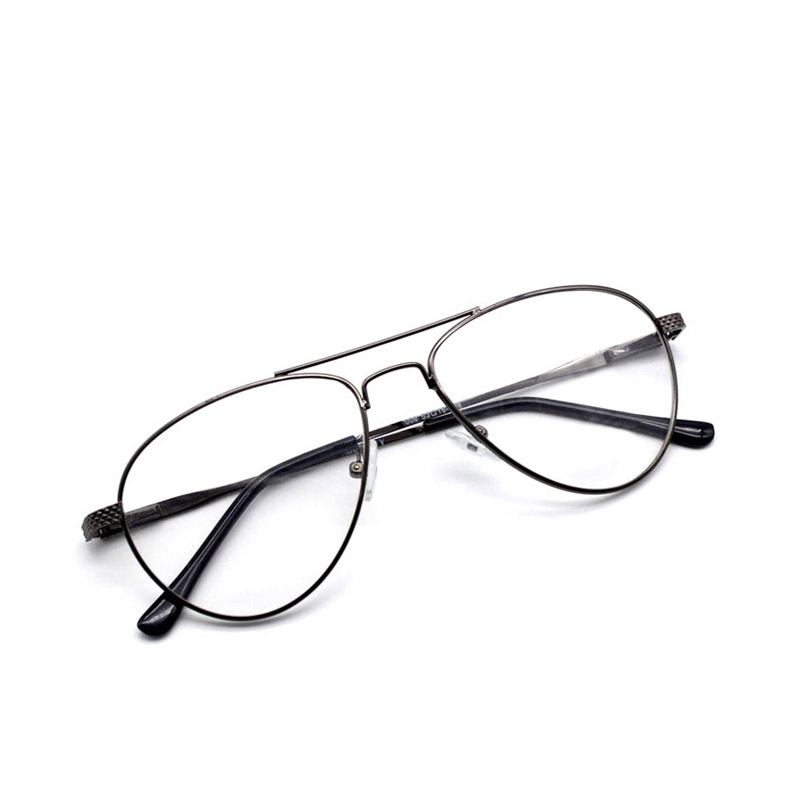 e20612f1f9 bauhaus Fashion Thick Metal Frame Women Round Glasses Brand Designer Men Double  Bridges Clear Lens Pilot Eyewear Dark Color 008-in Eyewear Frames from ...