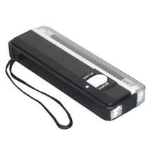 Новая одежда для маленькой девочки 2 in1 ручной УФ светодиодный фонарик Лампа Полезная банкнот детектор поддельный детектор валюты