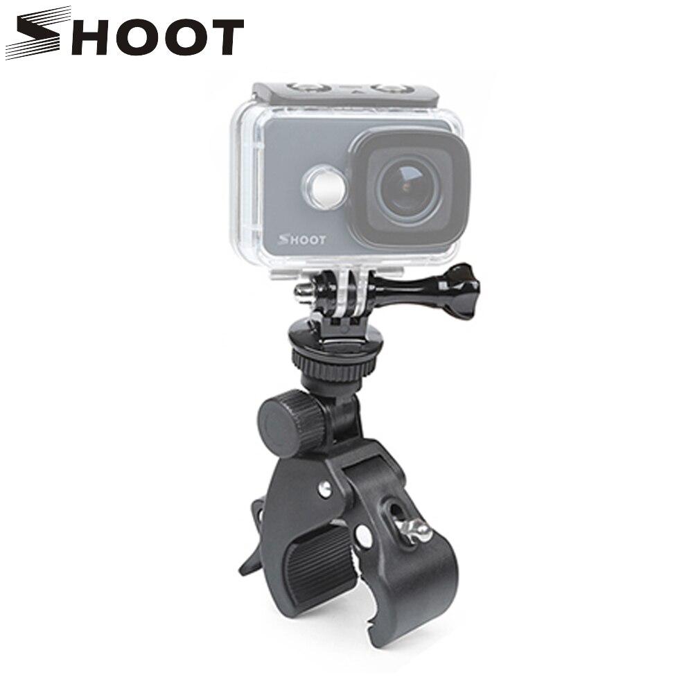 SHOOT Bicycle Handlebar Handle Clamp Camera Mount for GoPro Hero 5 6 4 SJCAM Xiaomi Yi