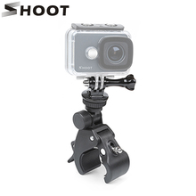 SHOOT Bicycle Handlebar Handle Clamp Camera Mount for GoPro Hero 5 6 4 SJCAM Xiaomi Yi Lite 4K H9 Bike Clip Holder Accessories