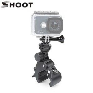 Image 1 - Shoot guidão da bicicleta alça braçadeira câmera de montagem para gopro hero 7 8 5 6 sjcam xiaomi yi lite 4 k h9 bicicleta clipe titular acessórios