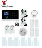 Yobang безопасности Беспроводной охранных WI FI GPRS 3G сигнализации Системы приложение Управление сети Камера мини двери магнитный Сенсор сигнал