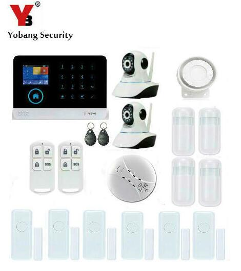 Yobang Security Wireless Home Security WIFI GPRS 3G Alarm System APP Control Network Camera Mini Door Magnetic Sensor Alarm Kits