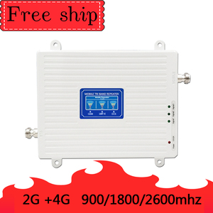 Image 3 - 900/1800/2600 Mhz 2G 3G 4G Mobile Phone Repeater 4G 2600Mhz  Cellular Signal Booster Amplifier 70db Gain