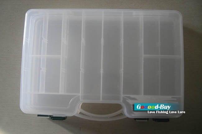 Fishing Lure Spoon Plastic two-sided tool Box LB8 lure