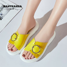Bvckle Womens Summer Shoes Fashion Casual Beach Slippers Classic Fashionable Black Silver Yellow