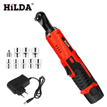 HILDA 12V Electric Wrench Kit Cordless Ratchet Wrench Rechargeable Scaffolding Torque Ratchet With Sockets Tools Power Tools(China)