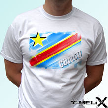 Congo flag - white t shirt top country design mens womens kids & baby sizes New T Shirts Funny Tops Tee Unisex
