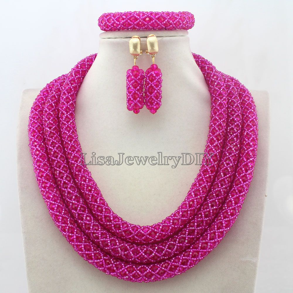 Splendid Statement Necklace African Beads Jewelry Sets Nigerian Wedding Crystal Jewelry Set Womens Jewellery Set HD7499Splendid Statement Necklace African Beads Jewelry Sets Nigerian Wedding Crystal Jewelry Set Womens Jewellery Set HD7499