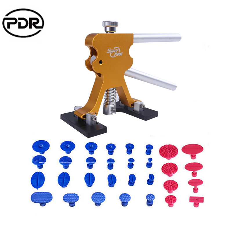 Auto Repair Tool Set Car Dent Repair PDR New Tools Dent Lifter Hail Removal Tool To Remove Dents Suction Cups pdr tools paintless dent removal car repair kit auto repair tool set slide hammer dent lifter suction cups for dents