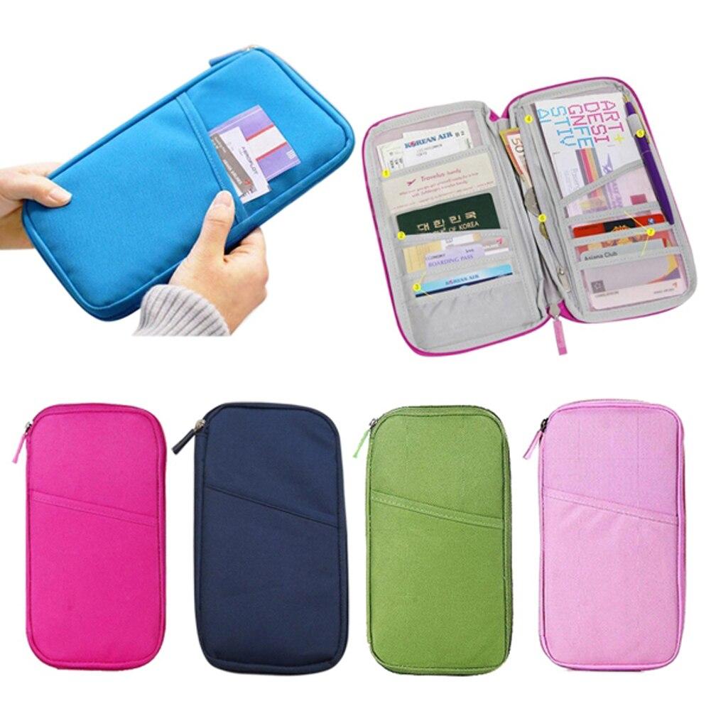 Ticket Wallet Organizer Multifunctional-Bag Credit-Card-Case Passport-Holder Handbag