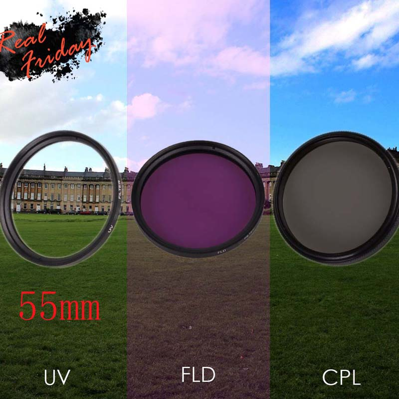 55mm UV CPL polarizer filter FLD Lens Filter Kit for Nikon D5600 D5500 D5300 D5100 D3400 D7500 D750 AF-P 18-55mm Camera Filters цена и фото