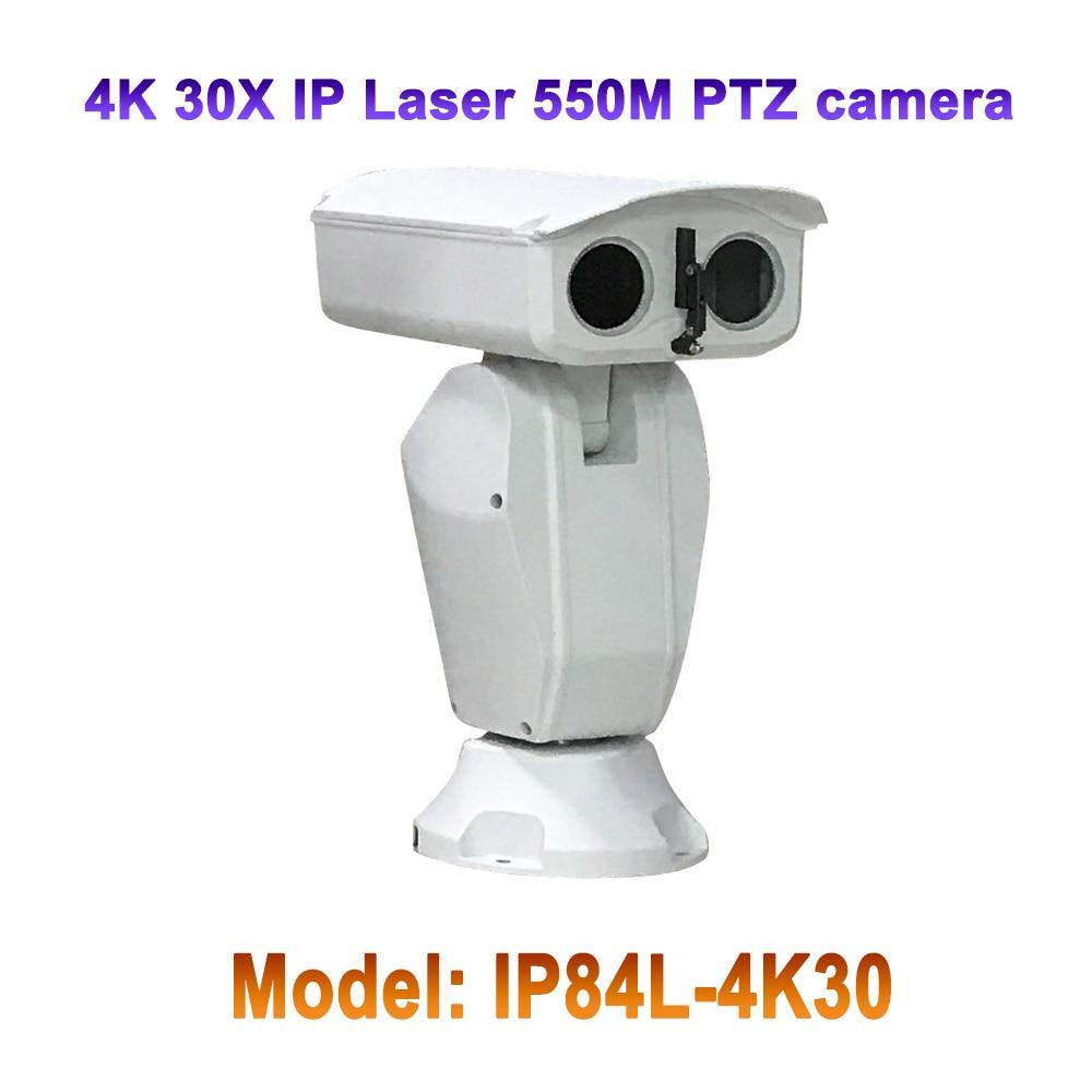 4 k Laser de sécurité IR 550 M 30x Zoom robuste 8mp ptz caméra de franchissement ligne de détection extérieure IP66 AC24V