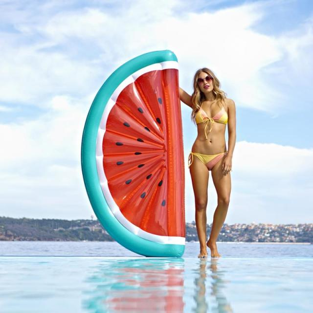 2017 гигантские надувные арбуз бассейна матрас загорать пляжный коврик воздух кольцо плавание плавательный круг берег вечерние игрушки
