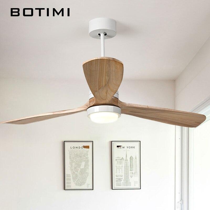 Lamps Lighting Ceiling Fans 52 Nordic Led Chandeliers Ceiling Fan Wood Blades Light Fixture Decor Remote Chandeliers Ceiling Fixtures