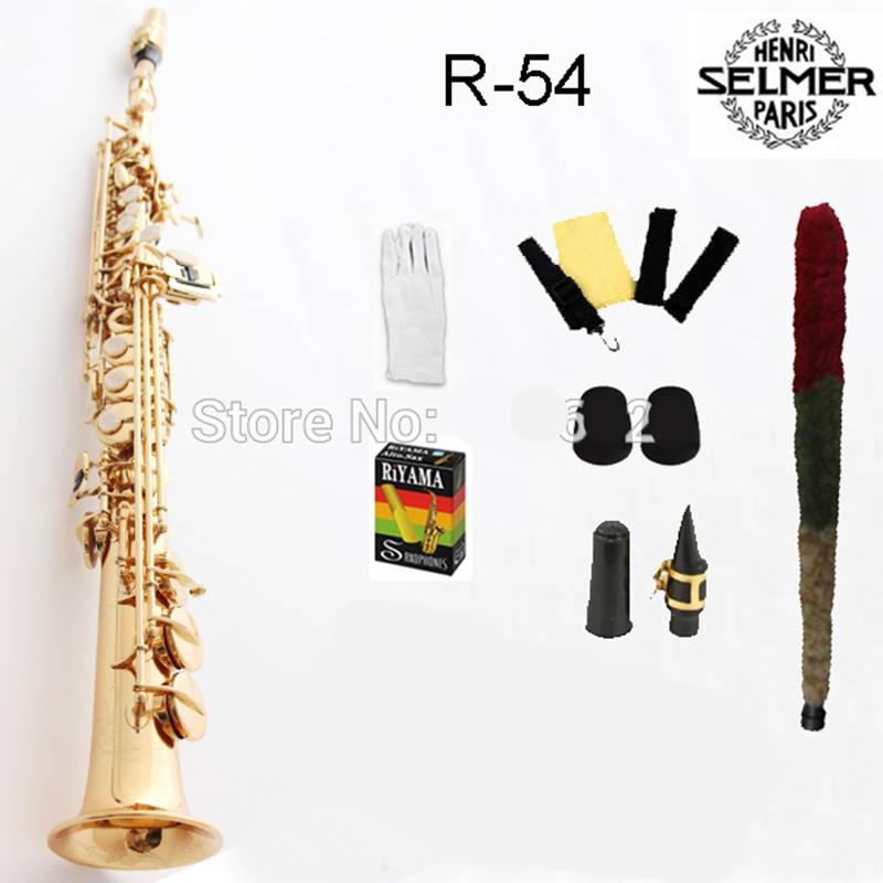 Free shipping France Selmer Baritonsaxophon High-Pitch Soprano Saxophone Gold 54 Professional B Mouthpiece Sax saxofone #22 brand new france henri selmer soprano saxophone 80 black nickel gold sax mouthpiece with case and accessories