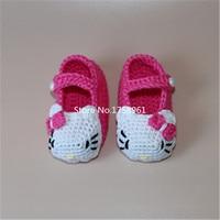 Crochet Baby Slipper Booties Handmade Baby Shoes Newborn First Walkers Infant Booties Toddler Girls KT Shoes