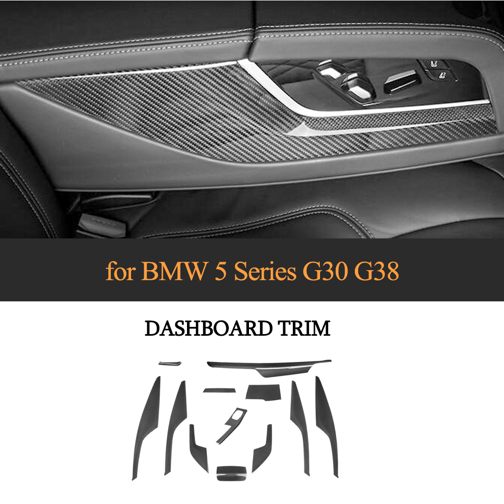 Car Center Console Gear Shift air vent frame modification Cover Trim for BMW 5 series G30 G38 520i 17 19 real Carbon Fiber 12pcs