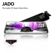 hot deal buy jado stream rearview mirror dvr dash camera avtoregistrator 10 ips touch screen full hd 1080p car dvr dash cam night vision