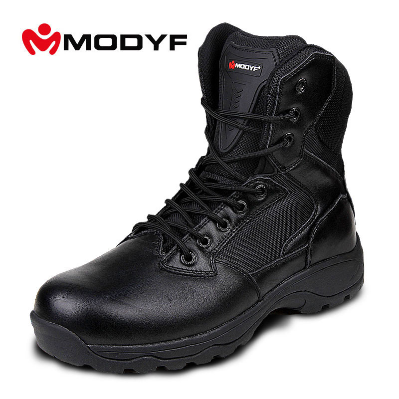 MODYF Free shipping Men fashion high quality work safety shoes Puncture proof army boots Martin boots Outdoor footwear цены онлайн