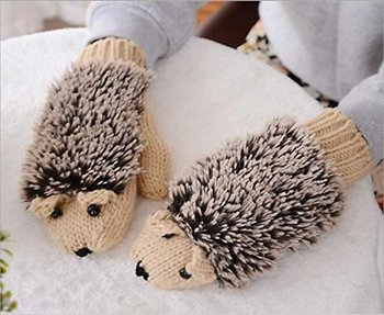Cute Hedgehog Style Gloves 100% Cotton Gloves 2