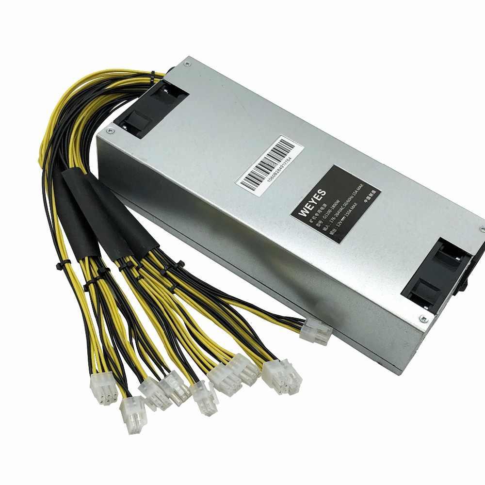 Bitmain 1800w power supply 6PIN*10 Antminer APW3++-12-1600,ETH PSU,antminer  S9 S7 L3 BTC LTC DASH miner power supply