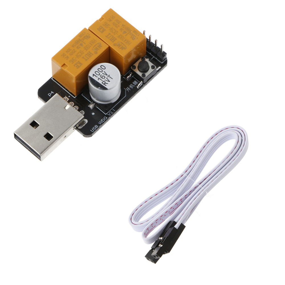 все цены на 2018 Hot USB Watchdog Card Module Timer One Buttoon Boot Blue Screen Restart For Computer PC Mining Miner Games C26 онлайн