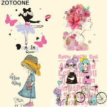 ZOTOONE Christmas Gifts  Patches for Clothing Heat Transfer Iron on Clothes Jacket Easy By Household Irons Washable