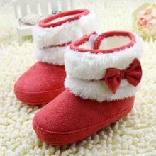 Детские Ботинки Впервые Ходунки Мода Детская Обувь для Девочек Мех Снегоступы Теплые Сапоги Зимние Ботинки Младенца