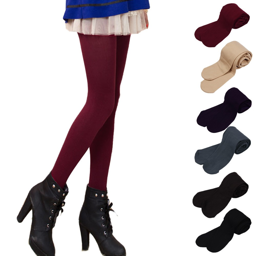 Thick Winter Warm   Leggings   2018 Autumn Brushed Wool Lining Stretch Pants Feet Trample Female   Leggings   Solid Color jeans mujer