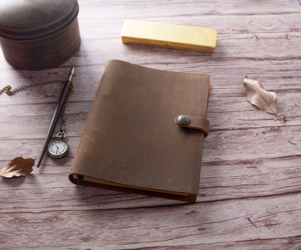 loose leaf vintage Blank Diaries Journals Diary notebook notepad genuine leather craft blank paper traveler muji style empty page blank kraft paper 100 pages notepad word study card portable memo pad loose leaf notes diy notepad
