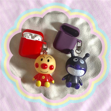 New Cartoon Anpanman Keychain Silicone Case for Apple Airpods Cover Bluetooth Headset