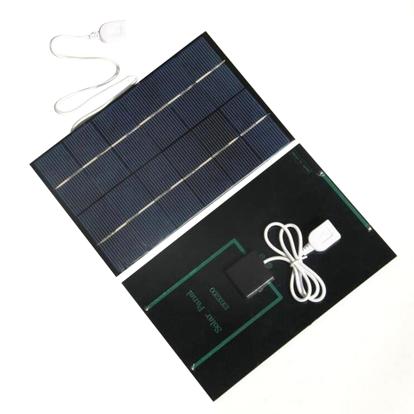 New 4.2W 6V Portable Solar Panel Cell USB Output Charger with Regulator For Phone Outdoor Power bank DIY Module Board