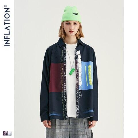 INFLATION Men Long Sleeve Shirts Digital Printing Oversized Shirts 2019 Autumn Male Streetwear Fashion Shirts 92140W Pakistan
