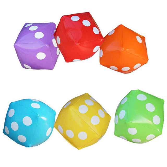 Kindergarten Interactive Tos Giant Inflatable Dice Toy Ball Outdoor Kids Fun Sports Equipment Family Beach Party Supplies