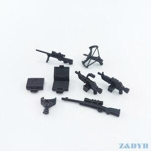 Image 2 - 77PCS Waffe Pack Gun Military PUBG Zubehör Mini Soldaten Figur Playmobil Baustein Ziegel Pädagogisches Kinder Kid Spielzeug