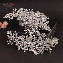 YouLaPan HP253 свадебный головной убор заколки для волос лоза Стразы Цветочные Свадебные аксессуары для волос для невесты украшения для волос