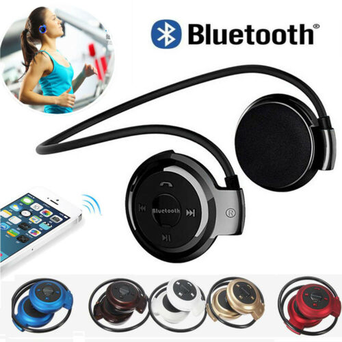 Sports Wireless Bluetooth Headphones Headset Stereo Handsfree Running Gym Earphone image
