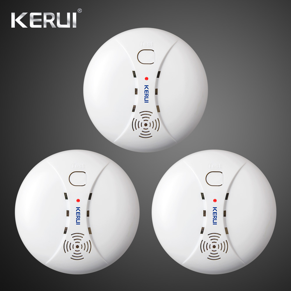 3pcs Wireless Smart House Sensitive Photoelectric Smoke Detector Fire Sensor Cordless For GSM WirelessSecurity Home Alarm System