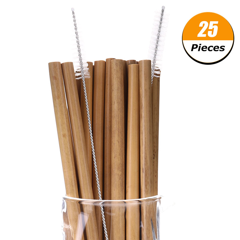 25-Pcs-Bamboo-Straw-Reusable-Straw-20cm-Organic-Bamboo-Drinking-Straws-Natural-Wood-Straws-For-Party