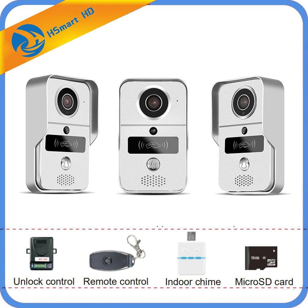 IP Video Intercom 4G Video Door Phone Ring Door Bell Doorbell WiFi Camera Alarm Wireless Security