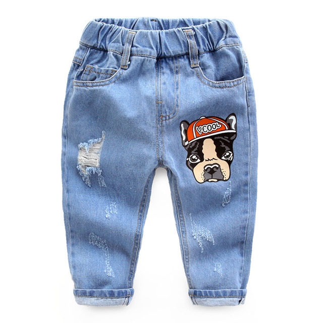 boy child ripped jeans cotton trousers pants children new kids baby pants