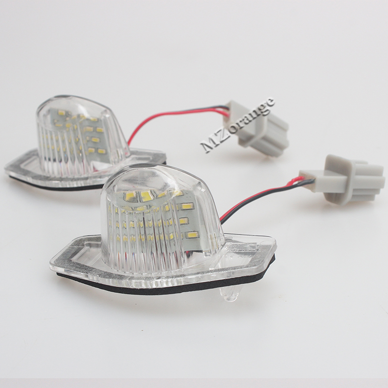 2Pcs 18 LED License Plate Lights Number Plate Lamp For Honda/Accord/Odyssey/Acura/TSX/Civic 01-05 ...