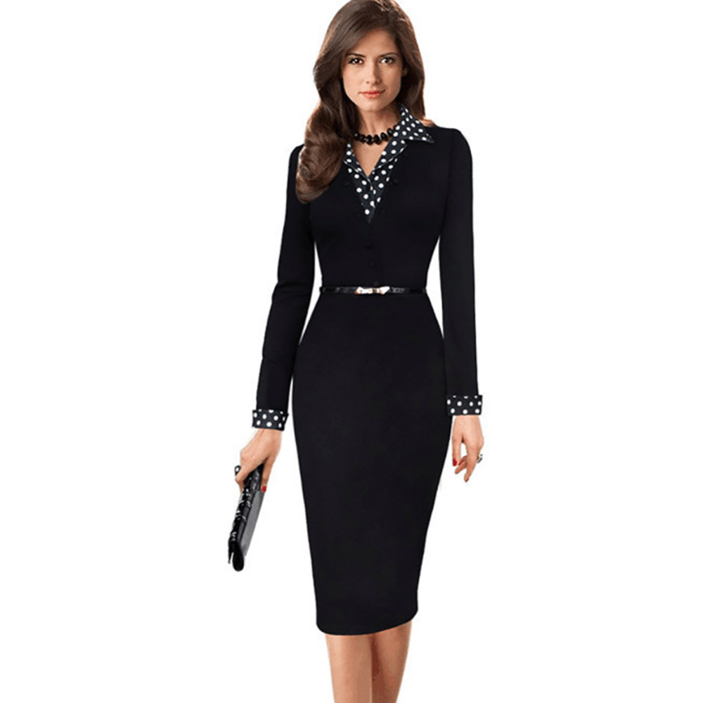 How to office wear dress new photo