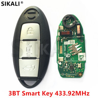 SIKALI Smart Remote Key 3 Buttons Suit For NISSAN Qashqai X Trail Door Controller For Continontal