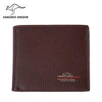 Kangaroo Kingdom Men Wallets Genuine Leather Wallet Purse Famous Brand Male Business Pocket Wallet