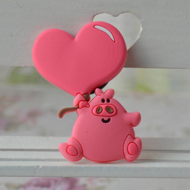 Cute Heart Pig Fridge Magnets Kids Decorative