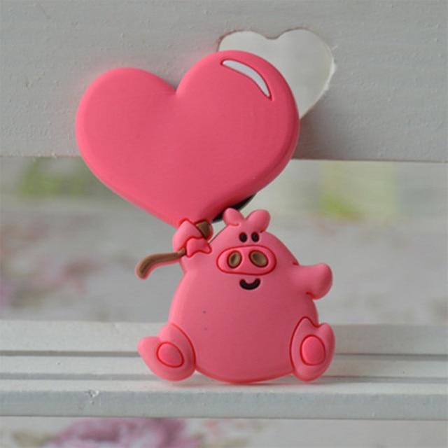 Dễ thương tim pig Tủ Lạnh Nam Châm Cho Trẻ Em Trang Trí Tủ Lạnh Nam Châm Giá Rẻ Từ Tính Nhỏ Nhãn Dán Trên Tủ Lạnh