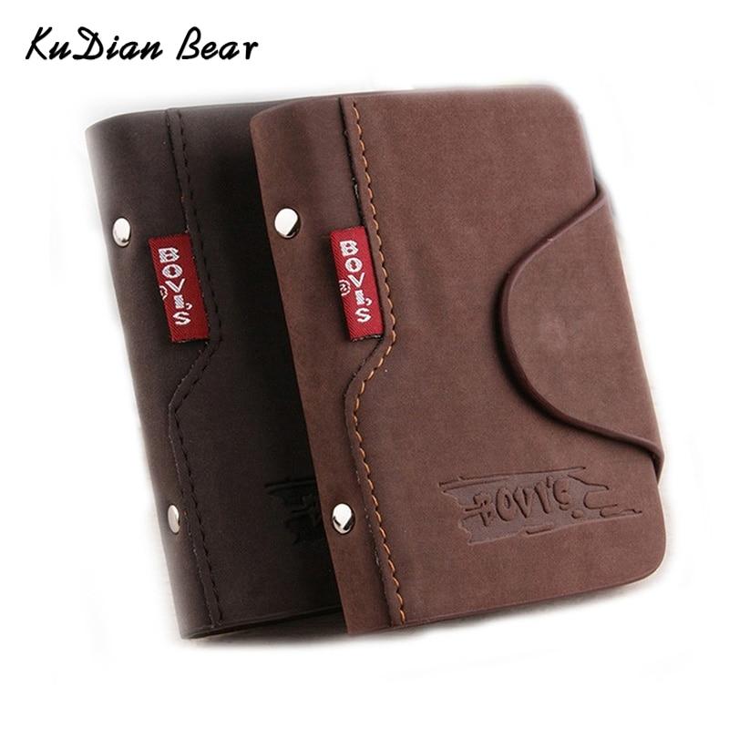 KUDIAN BEAR Leather Business Card Holder Credit Card Cover Bags Travel Card Organizer Bags Porte Carte -- BIH003 PM20